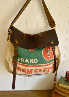 Vintage Feed Bag Purse
