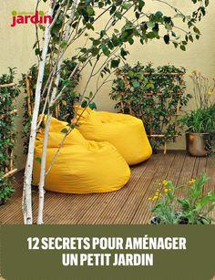 Set up a terrace - 55 ideas with poufs and cushions - Decor ideas for you 2018 Small Courtyard Gardens, Small Courtyards, Outdoor Gardens, Outdoor Pouf, Bean Bag Chair, Cushions, Exterior, Balconies, Ideas Decoración