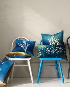Sun-Print Pillows; Martha Stewart Crafts.