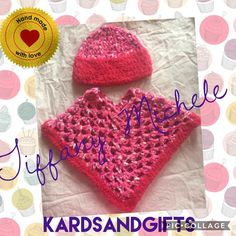 Fluffy Poncho and Beanie – KARDS and Gifts
