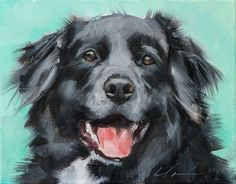 Clair Hartmann Daily Painting,,,,,,,,,,,,,this reminds me of shadow and lucy. black fur is tricky to paint. This artist has done a gorgeous job
