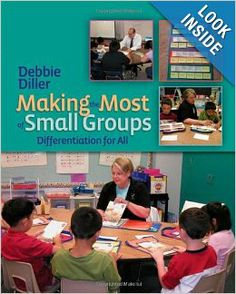 This is a must-have book for Guided Reading and small groups.  If you've ever wondered what the teacher and students should be doing in small groups, this is the perfect book.  It includes sample lessons and suggestions for students with different reading needs.