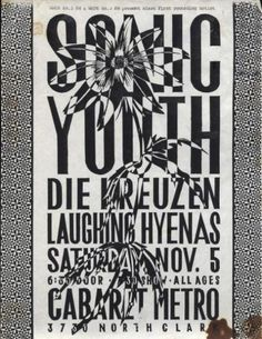 sonic youth • old punk flyers