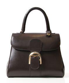 vintage delvaux donker bruine chocolat aan de beste prijs tweedehands online labellov, antwerpen