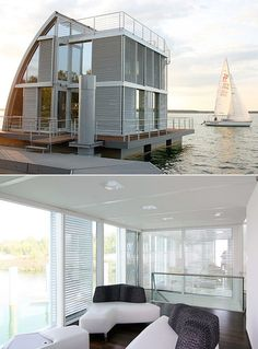 Stunning Sailboat-Inspired Floating Home in Germany