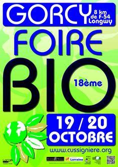 Foire bio de la Cussignière. Du 19 au 20 octobre 2013 à Gorcy.