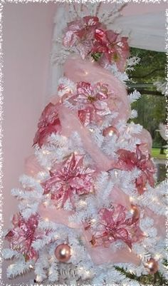 Pink Ponisietta Tree. Pinning this because Charlotte practically drooled over it.
