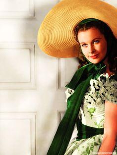 Vivien Leigh as Scarlett O'Hara