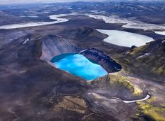 Gorgeous Aerial Shots of Iceland's Volcanic Rivers