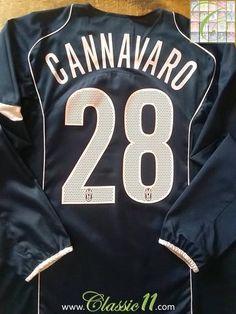 Relive Fabio Cannavaro's 2004/2005 season with this original Nike Juventus 3rd kit long sleeve football shirt.