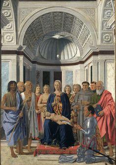 Milano Pinacoteca di Brera - La Vergine con il Bambino, angeli e Santi (Pala Montefeltro) - Piero della Francesca