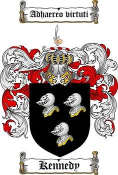 KENNEDY FAMILY CREST - COAT OF ARMS gifts at www.4crests.com