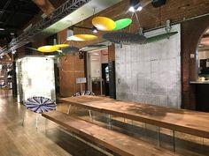 WANTEDDESIGN MANHATTAN 2017 - Fabbian Restaurant Area with LAGO Furniture