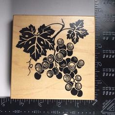 BERRIES K-1783 PSX Rubber Stamp Grapes Botanical Fruit Plants Nature #448 #PSXDesigns