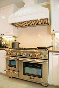 """48"""" dual fuel, Thermador range in the kitchen of a 1920's Hollywood, CA Craftsman I designed and remodeled."""