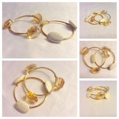 🆕 Gold Bracelets New pair of bangles w Gold hardware & stones attached. Super cool & chic! I just love these😻 This is a costume piece neither stones or hardware is real. Jewelry Bracelets