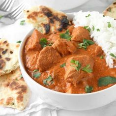 Healthy Slow Cooker Indian Butter Chicken. No butter, no cream, tons of flavor!
