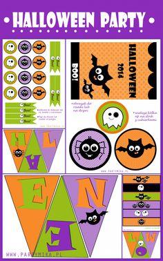 Szablony Halloween do druku - dla dzieci! Girlanda i naklejki na cukierki halloween.