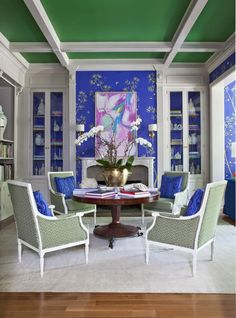 Fromental chinoiserie wallpaper  Interiors by Parker Kennedy Living