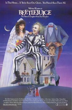 "Movie of the Day: ""Beetlejuice"" (1988)- this week it's the movies of Tim Burton, starting with the 1988 classic"