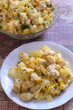Cheddar, Pasta Salad, Cauliflower, Vegetarian Recipes, Salads, Paleo, Vegetables, Cooking, Ethnic Recipes