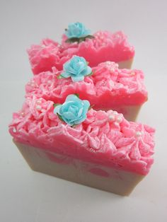Let Them Eat Cake Shea Butter Soap Moisturizing by QueenCitySoaps, $5.95