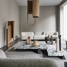 Very nice interior design, @ondene_doublebay and @collection_particuliere Beautiful coffee tables and the modular sofa elements, also the…