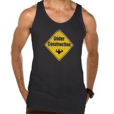 BODY UNDER CONSTRUCTION TANKTOP. FITNESS, GYM, SPORT. GET IT ON : http://www.zazzle.com/body_under_construction_tanktop-235822566880143676?rf=238054403704815742