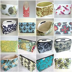 Free Fabric Handbag Patterns | Pattern for Large Cosmetic Bag PDF version by meringuedesigns