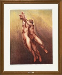"VEBJØRN SAND  ""To"" Fargelitografi, 186/200, 72x54 cm Signert nede til høyre: Vebjørn Sand"