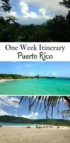 An Itinerary - One Week in Puerto Rico From Old San Juan to breathtaking beaches to the rainforest how to fit in the best things to do in Puerto Rico in just one week! Including where to stay and what to eat. Barbados, Jamaica, Porto Rico San Juan, San Juan Puerto Rico, Cayman Islands, New Travel, Travel Usa, Travel Tips, Travel Stuff