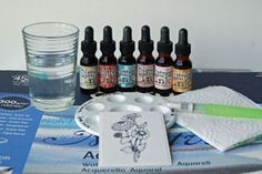 Water Coloring with Distress inks...LOVEEE this bc she shows u how to shade and add depth with diff colors