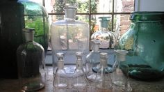 Vintage Collection of 8 bottles Apothecary by ImagedeVintage