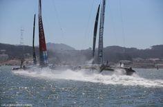 Close 1st America's Cup race- 2013