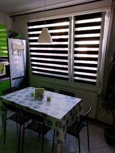 Roleta Den a noc, Origin classic černá, A 007 - FEXI Rolety Outdoor Furniture, Outdoor Decor, Blinds, Curtains, The Originals, Classic, Table, Silver, Home Decor