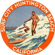 Surf City Huntington Beach Custom Sign- customize it with your favorite surf spot!