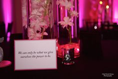 Inspirational Quote Table Sign - BAT MITZVAHS