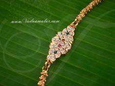 South India Design Long Chain Mugappu Side Pendant for Sarees Gold Necklace Simple, Silver Pendant Necklace, Pendant Jewelry, Gold Temple Jewellery, Gold Jewelry, Gold Finger Rings, Gold Mangalsutra Designs, Gold Chain Design, Gold Models