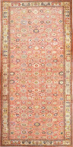 Oversized Antique Persian Sultanabad Rug 47700 from Nazmiyal Antique Rugs