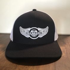 Shop now: Airstream Live Riveted Hat - Tire Wings Classic Trucker Style - Black/White http://airstreambrands.com/products/airstream-live-riveted-hat-tire-wings-classic-trucker-style-black-white