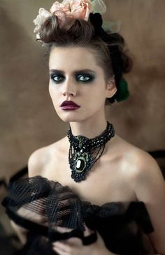 Victorian hair & makeup #costume #halloween #goth