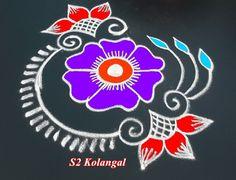 easy freehand rangoli designs - simple kolam without dots - creative latest muggulu Colorful Rangoli Designs, Kolam Designs, Ganesh Design, Peacock Rangoli, Muggulu Design, Rangoli With Dots, India Culture, Simple Rangoli, Peacocks