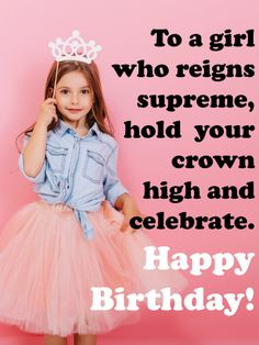 For any young princess turning another year older, this card will put the crowning touch on her special day.The little girl on this card is holding her crown and rocking out in her pink tutu, ready to reign supreme at her celebration. It's the perfect surprise for any royal cutie as she turns another year older, reminding her that she means so much to so many people, especially you.