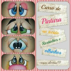 Eye Painting, One Stroke Painting, Cartoon Eyes, Cartoon Drawings, Doll Eyes, Doll Face, Clay Flower Pots, Snowman Faces, Country Paintings