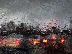 Wassertropfen auf Scheiben, fotorealistisch gemalt - Gregory Thielker