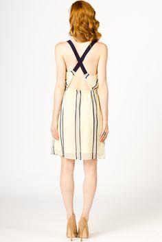 Cross Back Chiffon Dress   a-thread.