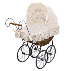 This is a Victorian-style lacy pram, ideal for dolls, for fancy dress, or just as an interesting ornament around the house. Description from amazon.co.uk. I searched for this on bing.com/images