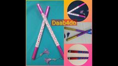 Wish you all a very happy dussehra! This video is on easy to make dandiya sticks for kids.they can ake it themselves with li. Indian Festivals, Newspaper, Sticks, How To Make, Kids, Decor, Children, Dekoration, Decoration