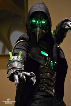 """Photos from 2014 that I never really posted until now for whatever reason. This was my """"Plague knight"""" armor before I added even more to it, creating the """"Electromancer"""" costume (sold it soon after..."""