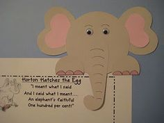 FREE Horton peek over pattern and writing paper